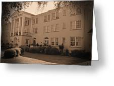 New Perry Hotel In Sepia Greeting Card
