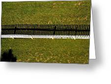 New Perspective Of The Picket Fence Greeting Card