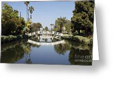 New Photographic Art Print For Sale Canals Of Venice California Greeting Card