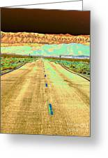 New Photographic Art Print For Sale Long Road To The Valley Of Fire Greeting Card
