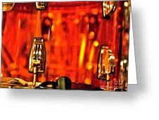 Transparent Orange Drum Backstage At The American Music Award Greeting Card