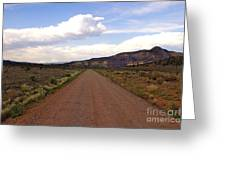 Red Road From The Benedictine Abbey Of Christ In The Desert New Mexico  Greeting Card