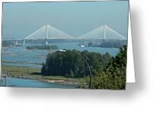 New Port Mann Bridge  Greeting Card