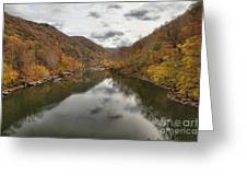 New River Fall Reflections Greeting Card