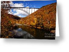 New River Gorge Bridge In Autumn Greeting Card