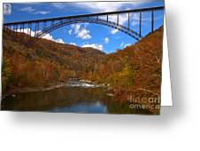 New River Gorge Fiery Fall Colors Greeting Card