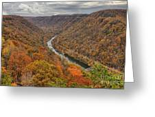 New River Gorge Overlook Fall Foliage Greeting Card