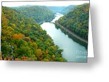 New River Gorge Viewed From Hawks Nest State Park Greeting Card