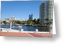New River In Fort Lauderdale Greeting Card