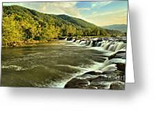 New River Landscape Greeting Card