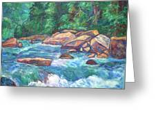 New River Fast Water Greeting Card