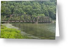 New River Scene 15 B Greeting Card