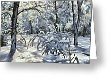 New Snow Greeting Card