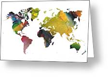 New World Map Greeting Card