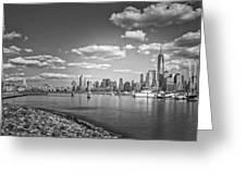 New World Trade Center Bw Greeting Card