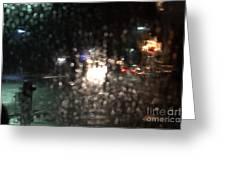 New Year Heavy Rainstorm 2015 Greeting Card