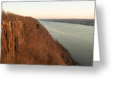 New Year's Dawn At Englewood Cliffs Greeting Card
