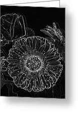 New Years Eve Flower Greeting Card