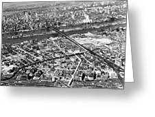 New York 1937 Aerial View  Greeting Card