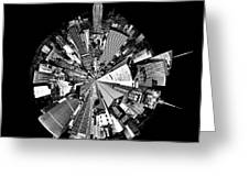 New York 2 Circagraph Greeting Card by Az Jackson
