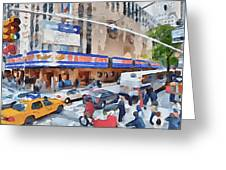 New York 4 Greeting Card