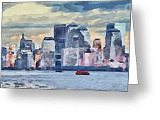 New York 7 Greeting Card by Yury Malkov