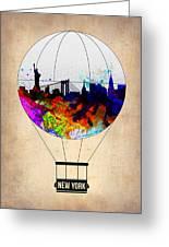 New York Air Balloon Greeting Card