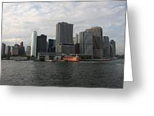 New York And Staaten Island Ferry Greeting Card