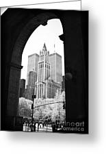 New York Arches 1990s Greeting Card by John Rizzuto