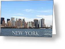 New York As I Saw It In 2008 Greeting Card