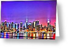 New York At Night Greeting Card