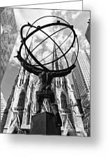 New York - Atlas Statue Greeting Card