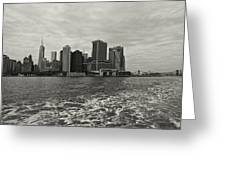 New York Battery Park View Greeting Card