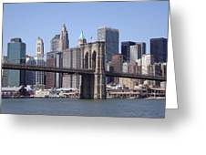 New York Bridge 3 Greeting Card
