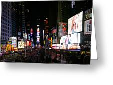 New York - Broadway And Times Square Greeting Card