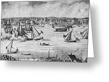 New York City, 1717 Greeting Card