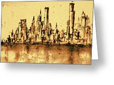 New York City Skyline 79 - Water Color Panorama Greeting Card