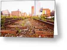 New York City - Abandoned Railroad Tracks Greeting Card