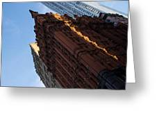 New York City - An Angled View Of The Potter Building At Sunrise Greeting Card