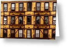 New York City Apartment Building Study Greeting Card