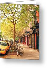 New York City - Autumn In The East Village  Greeting Card