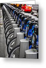 New York City Bikes Greeting Card