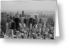 New York City Black And White Greeting Card