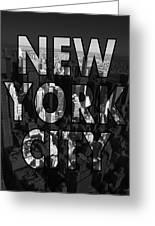 New York City - Black Greeting Card