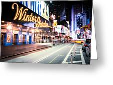New York City - Broadway Lights And Times Square Greeting Card
