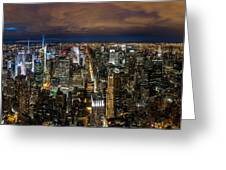 New York City By Night Greeting Card