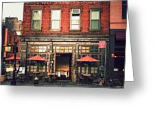 New York City - Cafe In Tribeca Greeting Card