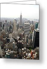New York City Canyons Greeting Card