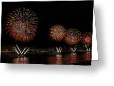 New York City Celebrates The Fourth Greeting Card by Susan Candelario