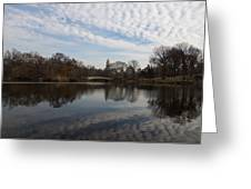 New York City Central Park Bow Bridge Quiet Reflections Greeting Card